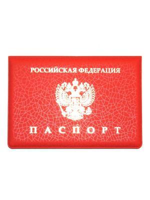 Обложка на паспорт Lola. Цвет: красный