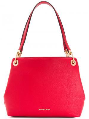 Большая сумка на плечо Raven Michael Kors. Цвет: красный