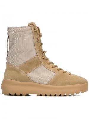 Ботинки в военном стиле Season 3 Yeezy. Цвет: телесный