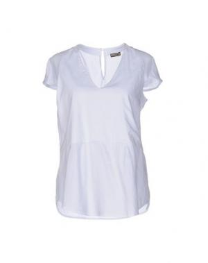 Блузка MALÌPARMI. Цвет: белый