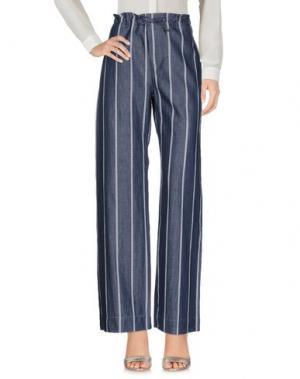 Повседневные брюки BAGUTTA. Цвет: грифельно-синий
