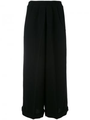 Широкие брюки со складками Racil. Цвет: чёрный