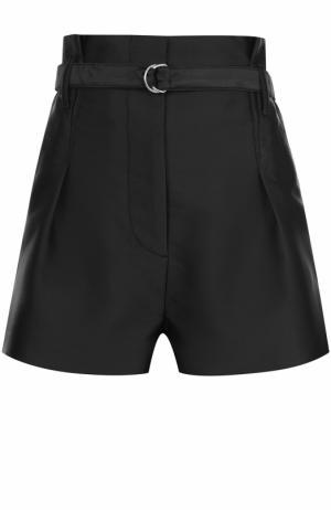 Мини-шорты с поясом и защипами 3.1 Phillip Lim. Цвет: черный