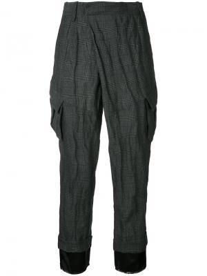 Укороченные брюки с карманами A.F.Vandevorst. Цвет: чёрный