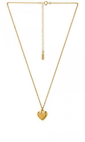 Кулон-медальон Natalie B Jewelry. Цвет: металлический золотой