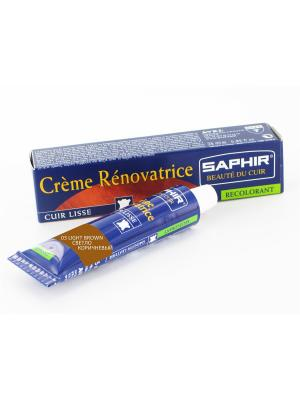 Восстановитель кожи Creme RENOVATRICE, 25 мл. (жидкая кожа)(03 СВЕТЛО-КОРИЧНЕВЫЙ) Saphir. Цвет: светло-коричневый