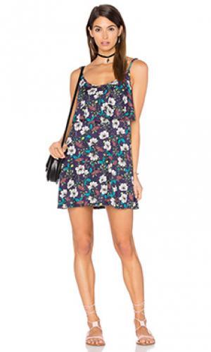 Мини платье marlow fiesta Michael Lauren. Цвет: синий