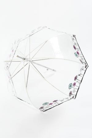 Зонт трость Isotoner. Цвет: прозрачный, одуванчик