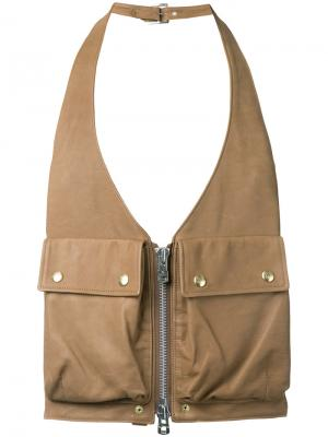Utility pocket gilet The Soloist. Цвет: коричневый