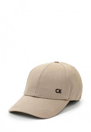 Бейсболка Calvin Klein Jeans. Цвет: бежевый
