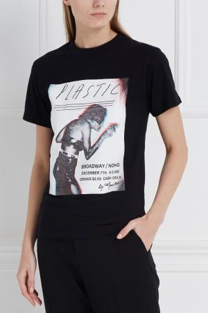 Хлопковая футболка Joyrich. Цвет: черный, разноцветный