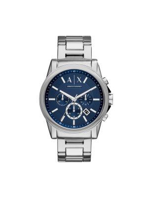 Часы Armani Exchange. Цвет: серебристый, синий