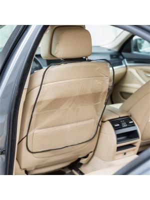 Защитная накидка на спинку переднего сидения из ПВХ, 48х59 см Homsu. Цвет: прозрачный