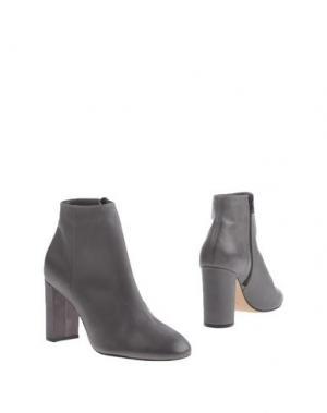 Полусапоги и высокие ботинки PREZIOSO. Цвет: свинцово-серый