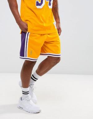 Mitchell & Ness Шорты NBA L.A. Lakers Swingman. Цвет: желтый