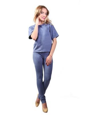 Костюм брюки и кофта Glam Goddess. Цвет: голубой
