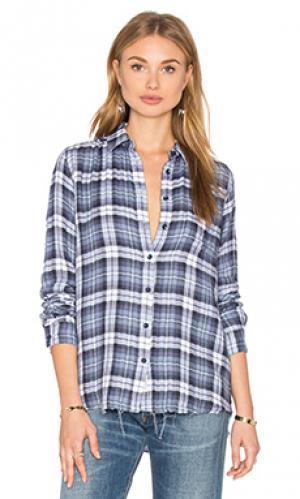 Рубашка с застёжкой на пуговицах DL1961. Цвет: синий