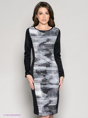 Платье 18CRR81 CERRUTI. Цвет: черный, белый