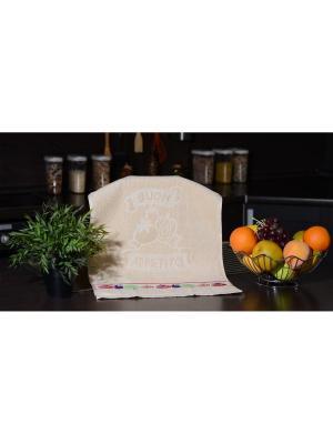 Набор махровых полотенец Овощи 40х60 3шт. кремовый TOALLA. Цвет: кремовый