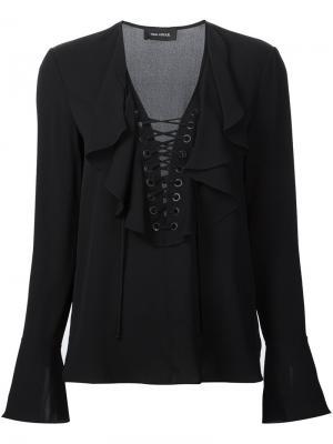Блузка с рюшами Yigal Azrouel. Цвет: чёрный