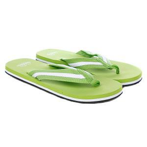 Шлепанцы  Flip Flops Limegreen/White Urban Classics. Цвет: черный,зеленый