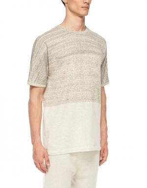 Хлопковая футболка Helmut Lang. Цвет: кремовый