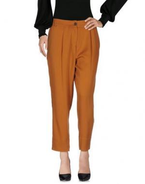 Повседневные брюки PDR PHISIQUE DU ROLE. Цвет: ржаво-коричневый