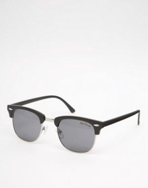 Black Phoenix Черные солнцезащитные очки в стиле ретро. Цвет: черный