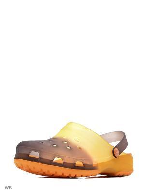 Сабо Effa. Цвет: коричневый, желтый