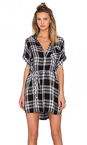 Платье на пуговицах savannah Rails. Цвет: черный