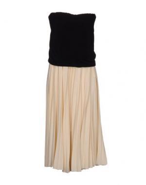 Платье длиной 3/4 E-GÓ. Цвет: песочный