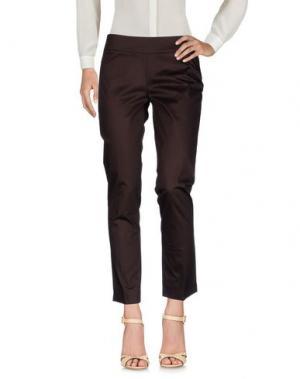 Повседневные брюки EMME by MARELLA. Цвет: темно-коричневый