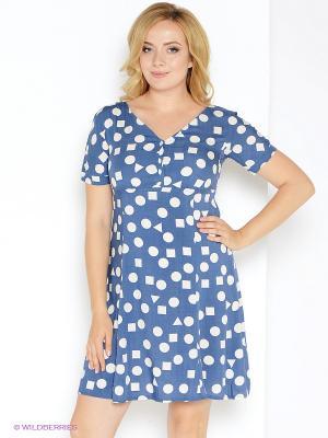 Платье Битис. Цвет: голубой