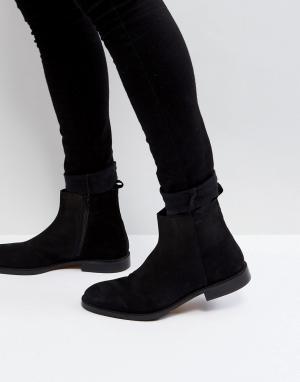 Zign Замшевые ботинки с молнией - Черный 6428071