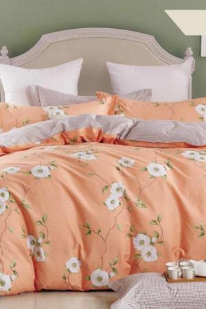 Постельное белье Евро, 70x70 Jardin. Цвет: оранжевый