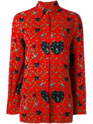 Рубашка с принтом Thumbelina Jc De Castelbajac Vintage. Цвет: красный