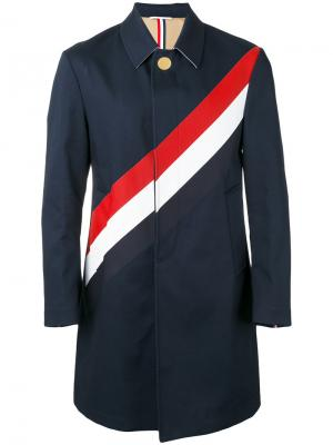 Striped coat Thom Browne. Цвет: синий