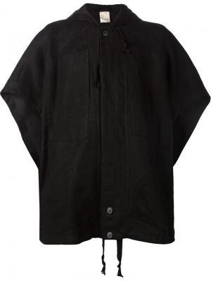 Объемная куртка с капюшоном и короткими рукавами Jan Van Essche. Цвет: чёрный