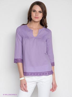 Блузка DRS Deerose. Цвет: фиолетовый