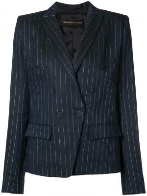 Пиджак в тонкую полоску Alexandre Vauthier. Цвет: синий