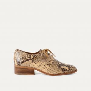 Ботинки-дерби под кожу питона GIORGIO SESSUN. Цвет: бежевый