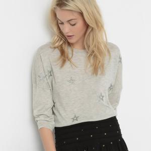 Пуловер с рисунком сверкающие звезды Sous-colMeriny SUD EXPRESS. Цвет: экрю меланж
