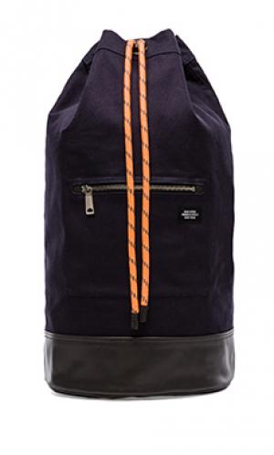 Rope canvas cinch backpack Jack Spade. Цвет: синий