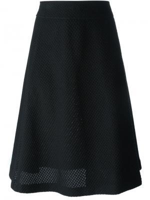 Сетчатая многослойная юбка Odeeh. Цвет: чёрный