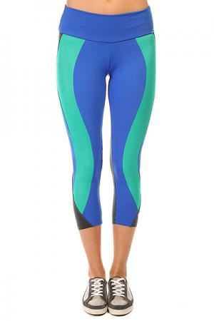 Леггинсы женские  Legging Supplex Blue/Grey/Green CajuBrasil. Цвет: синий,серый,зеленый