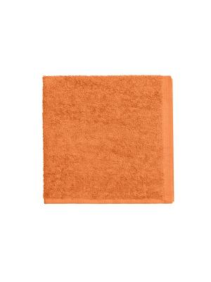 Махровое полотенце-оранжевый-40х40-100% хлопок, УзТ-МПБ-005-08-27 Aisha. Цвет: оранжевый