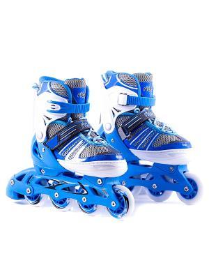 Ролики раздвижные RIDEX Ringo, пласт. рама. Цвет: голубой, белый, серый