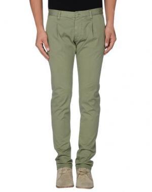 Повседневные брюки OFFICINA 36. Цвет: зеленый-милитари