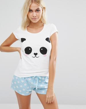 Boux Avenue Пижамные шорты Panda. Цвет: белый