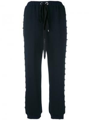 Спортивные штаны с отделкой жемчужинами Anna K. Цвет: синий